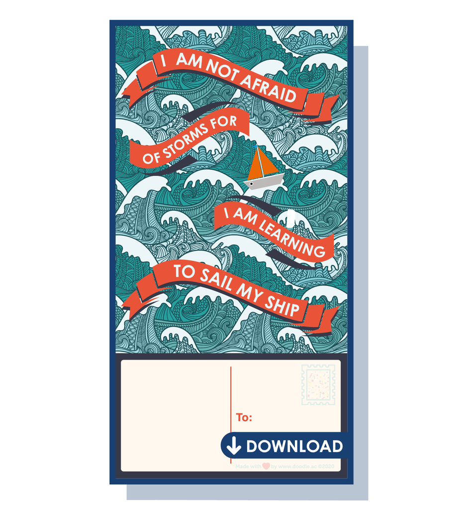 Set sail digital postcard
