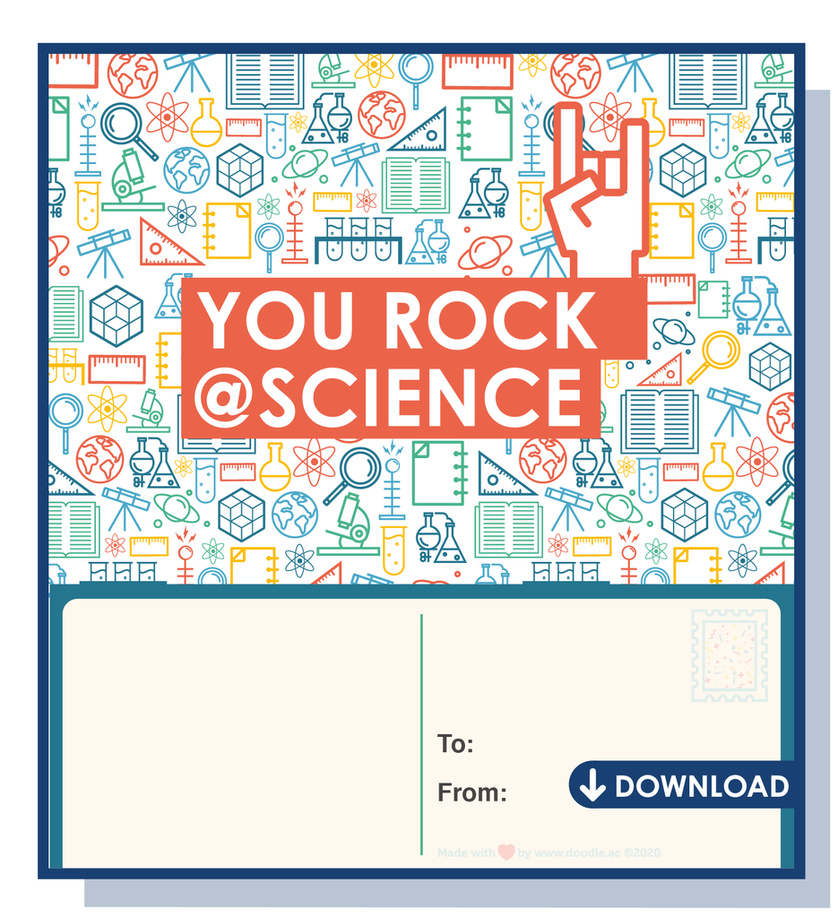 You rock @ science digital postcard