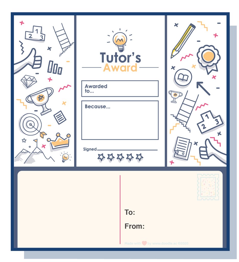 Tutor award digital postcard