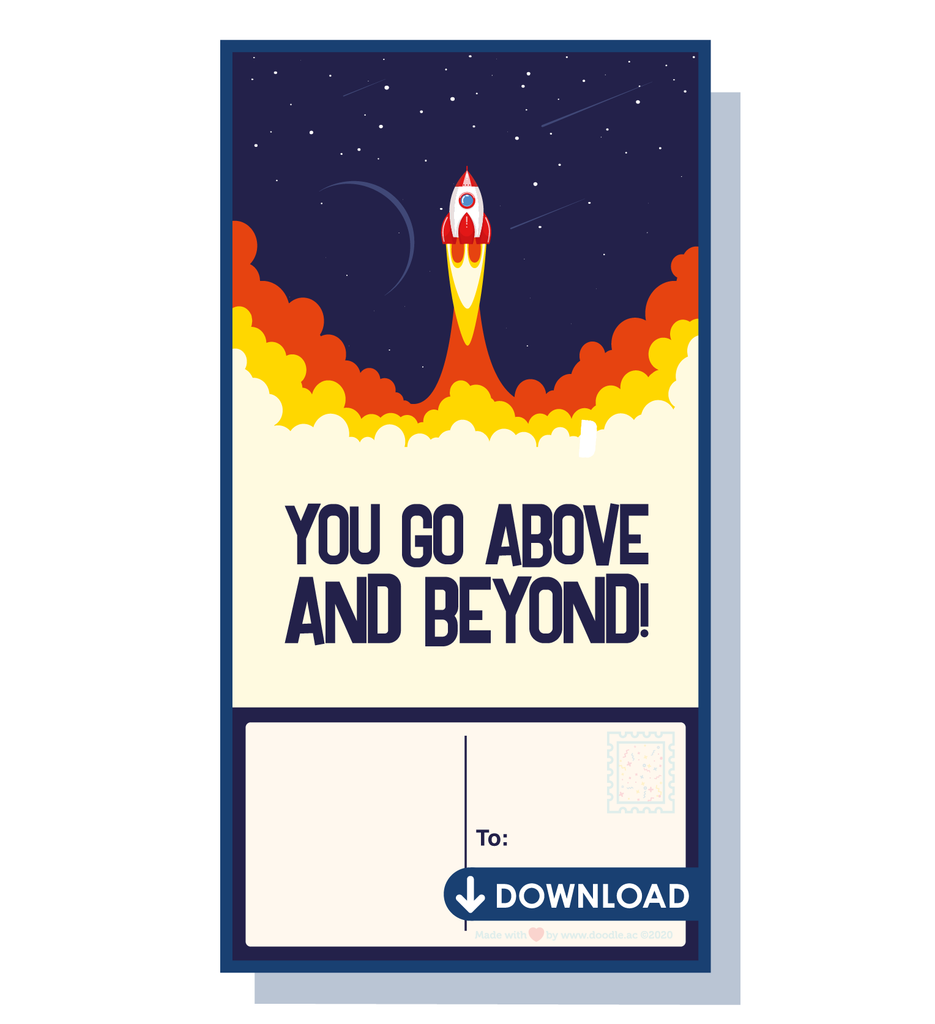 Above and beyond digital postcard