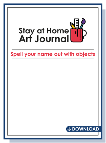 Stay at home art journal download