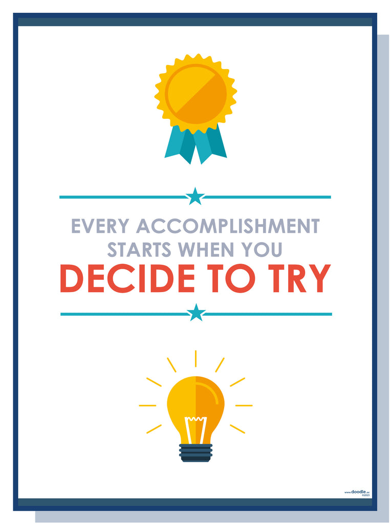 Decide to try