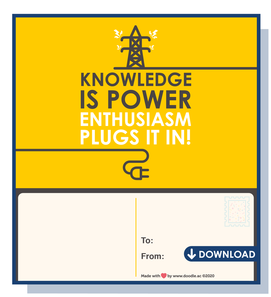 Plug it in digital postcard