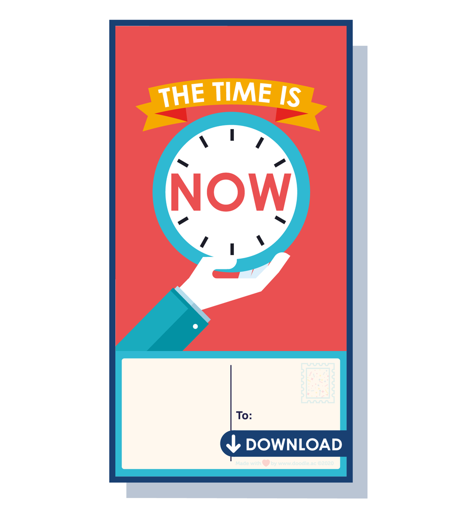 Time is now digital postcard