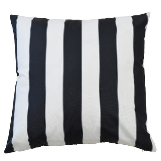 Catania Black & White Stripe Outdoor Square Cushion Cover, Cushion Cover, Ozark Home