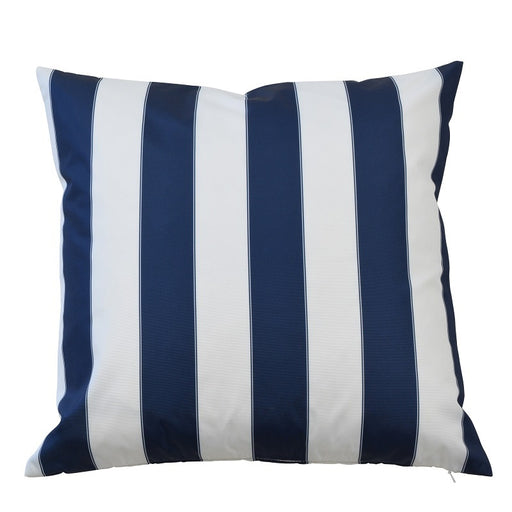 Catania Navy & White Stripe Outdoor Square Cushion Cover, Cushion Cover, Ozark Home