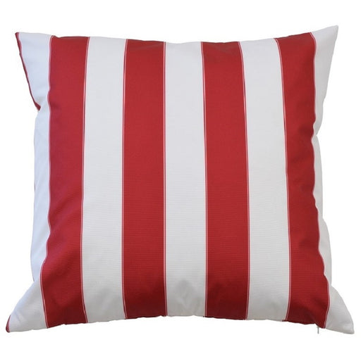 Catania Red & White Stripe Outdoor Square Cushion Cover, Cushion Cover, Ozark Home