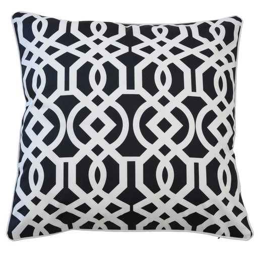 Palermo Black & White Outdoor Square Cushion Cover, Cushion Cover, Ozark Home