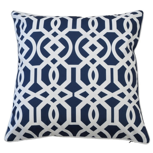 Palermo Navy & White Outdoor Square Cushion Cover, Cushion Cover, Ozark Home