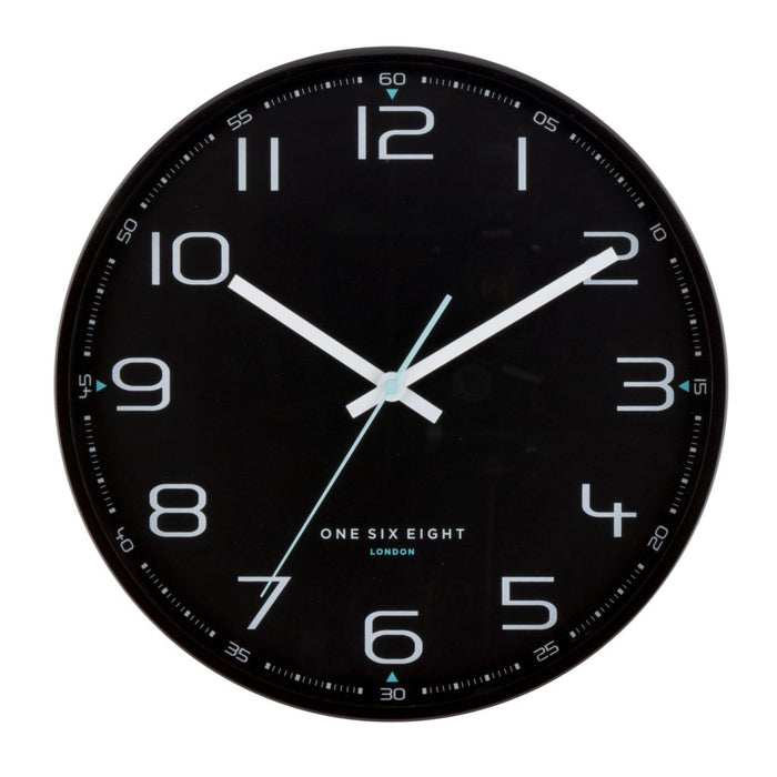 Cameron Black 30cm Silent Wall Clock New, Wall Clocks, Ozark Home