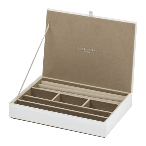 Bella Stackable Jewllery Box With Lid - White New, Jewellery Boxes, Ozark Home