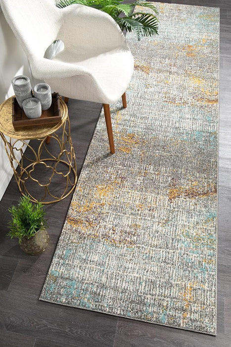 Arkum Multicoloured Riverside Sticks Contemptorary Runner Rug, Rugs, Ozark Home