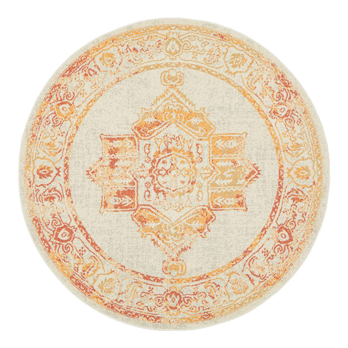 Aydin Sunset Round Transitional Medallion Contemporary Rug, Rugs, Ozark Home