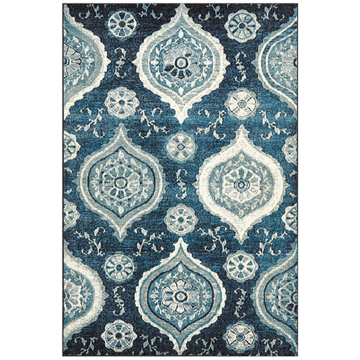 Giza Navy Charm Pattern Contemporary Rug, Rugs, Ozark Home