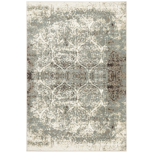 Giza Bone Faded Honeycomb Pattern Contemporary Rug, Rugs, Ozark Home