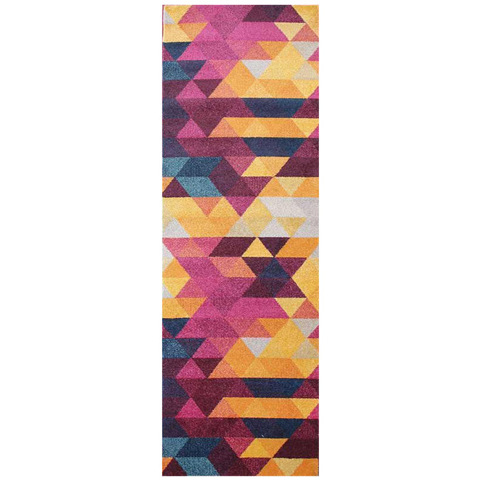 Demre Multicoloured Inverted Triangle Contemporary Runner Rug, Rugs, Ozark Home