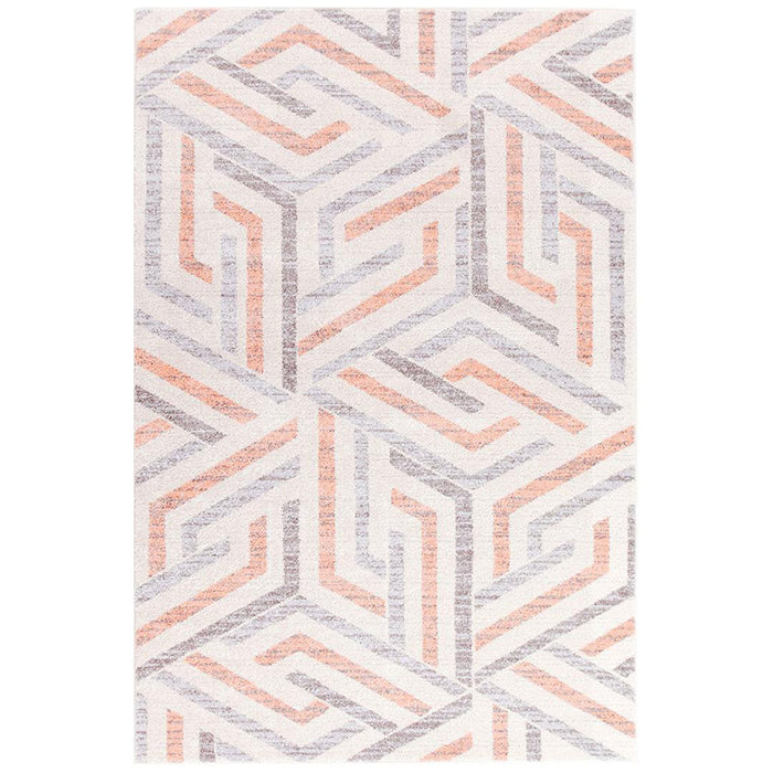 Demre Pink Link Contemporary Rug, Rugs, Ozark Home