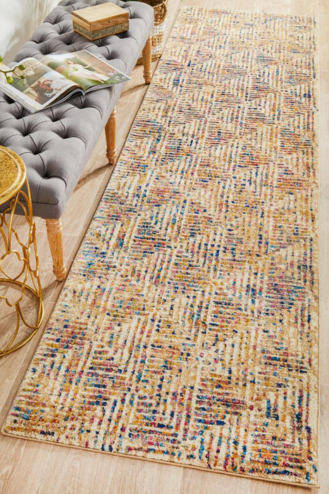 Dalaman Multicoloured Triangle Contemporary Runner Rug, Rugs, Ozark Home
