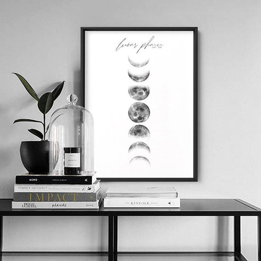 Lunar Moon Phases - Art Print - Ozark Home