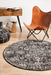 Ellora Charcoal Round Faded Transitional Medallion Contemporary Rug, Rugs, Ozark Home