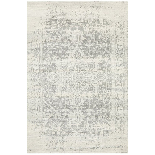 Ellora White & Silver Faded Transitional Contemporary Rug - Ozark Home