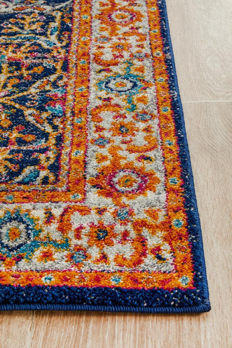 Ellora Multicoloured Floral Breeze Contemporary Runner Rug, Rugs, Ozark Home