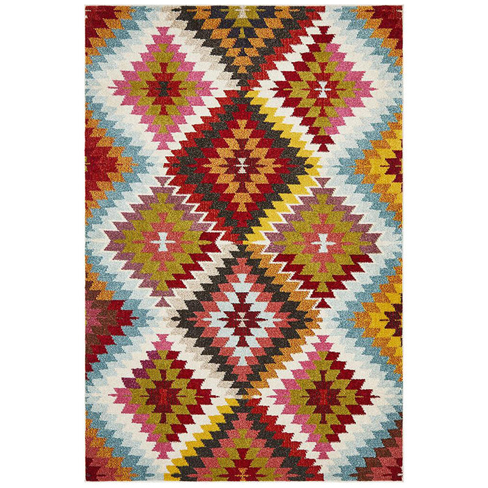 Gocek Multicoloured Aura Pattern Contemporary Rug, Rugs, Ozark Home
