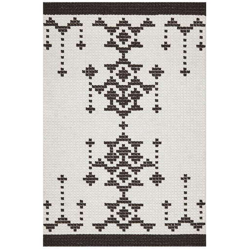 Halol Black & White Cross Stich Contemporary Wool Rug, Rugs, Ozark Home