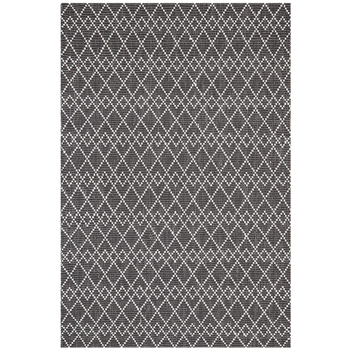 Halol Black & White Overlapping Diamond Contemporary Wool Rug, Rugs, Ozark Home