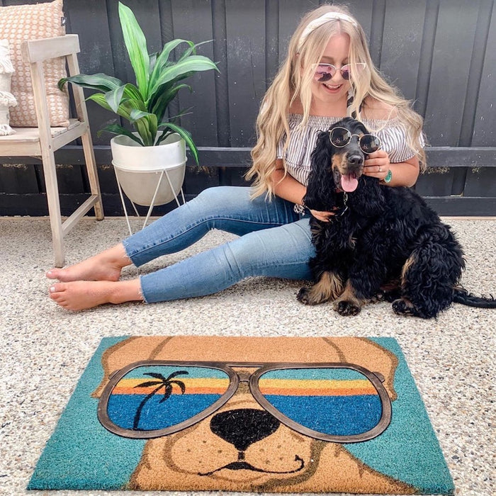 Cool Dog PVC Backed Doormat, 45x75cm - Ozark Home
