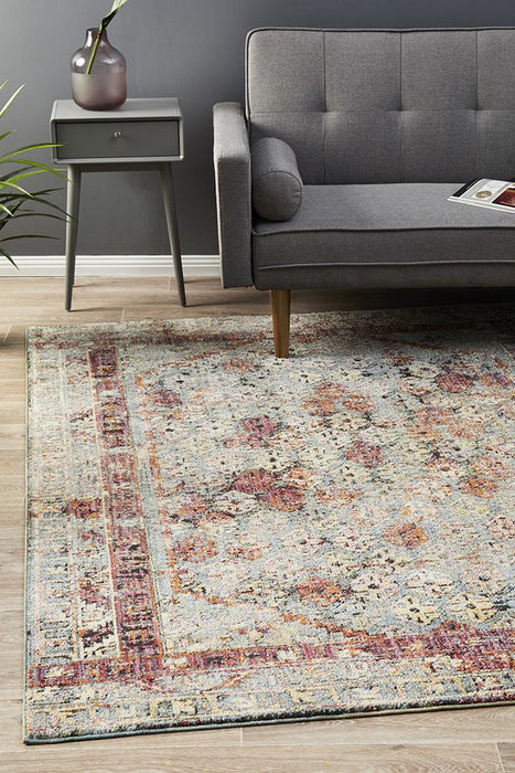 Juhayna Red Faded Transitional Contemporary Rug, Rugs, Ozark Home
