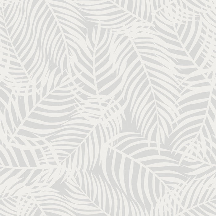Dove Grey Palms - Wallpaper, Wallpaper, Ozark Home