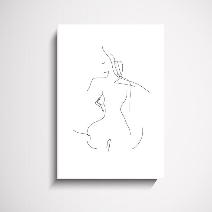 Dem Feels Female Figure Wall Art Print, Prints, Ozark Home