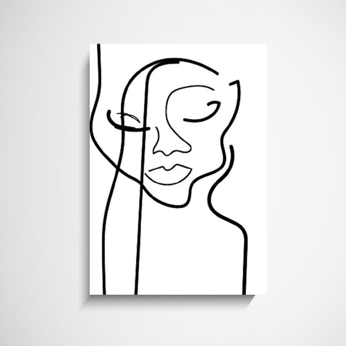 Face Off B&W Illustration Wall Art Print, Prints, Ozark Home
