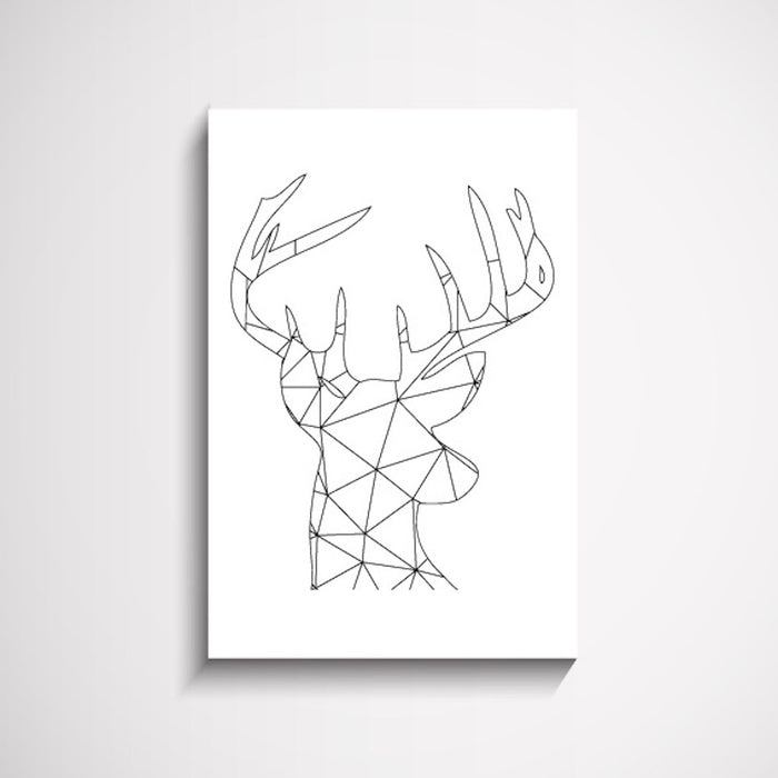 Patterned Stag Animal Wall Art Print, Prints, Ozark Home