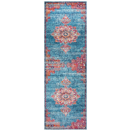 Reyhanli Marine Transitional Floral Mandala Contemporary Runner Rug, Rugs, Ozark Home