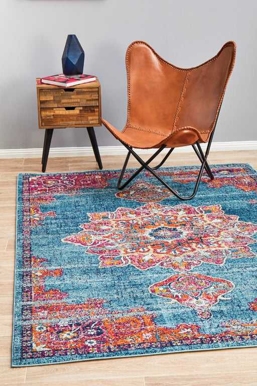 Reyhanli Marine Transitional Floral Mandala Contemporary Rug, Rugs, Ozark Home
