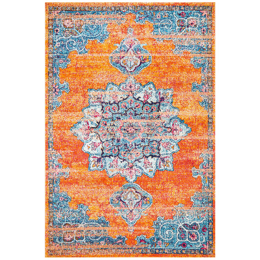 Reyhanli Vivid Rust Transitional Floral Mandala Contemporary Rug, Rugs, Ozark Home