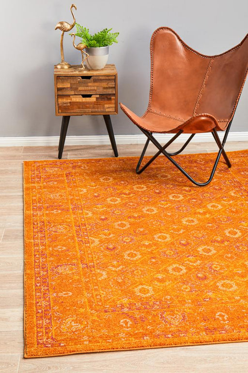 Reyhanli Burnt Orange Transitional Muted Floral Contemporary Rug, Rugs, Ozark Home