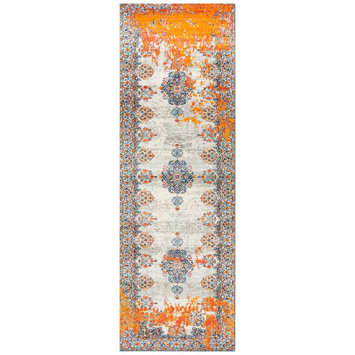 Reyhanli Bone Transitional Diamond Medallion Contemporary Runner Rug, Rugs, Ozark Home