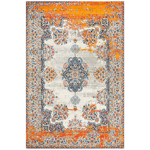 Reyhanli Bone Transitional Diamond Medallion Contemporary Rug, Rugs, Ozark Home