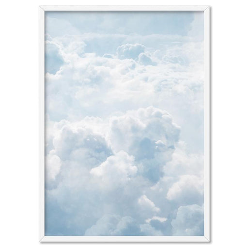 White Clouds in Blue Sky I - Art Print, Wall Art, Ozark Home