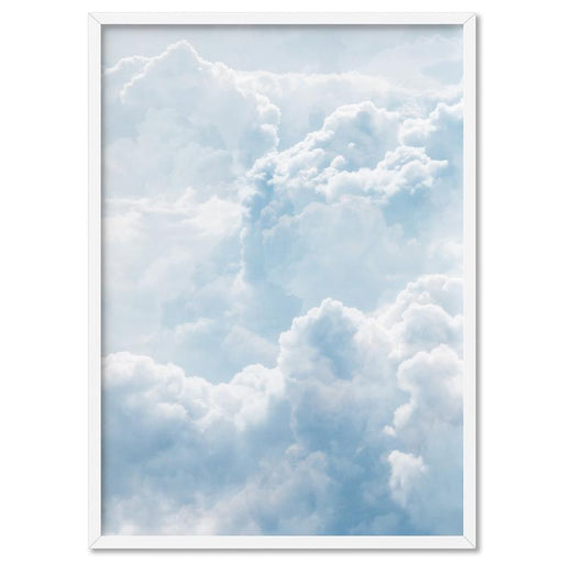 White Clouds in Blue Sky II - Art Print, Wall Art, Ozark Home
