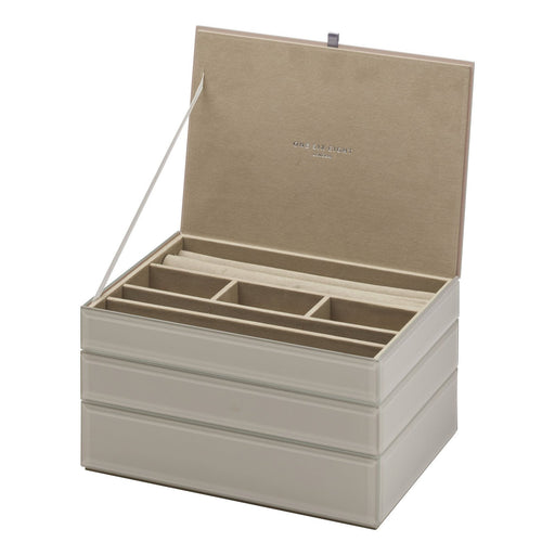 Bella Stackable Jewellery Box Set - Grey New, Jewellery Boxes, Ozark Home