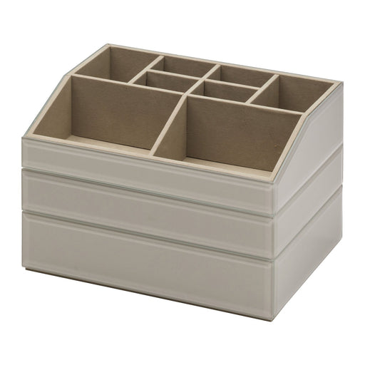 Bella Stackable Jewellery & Makeup Box Set - Grey New, Jewellery Boxes, Ozark Home