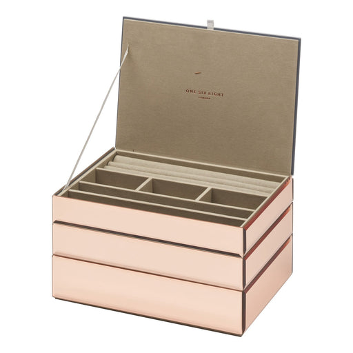 Bella Stackable Jewellery Box Set - Rose Gold New, Jewellery Boxes, Ozark Home