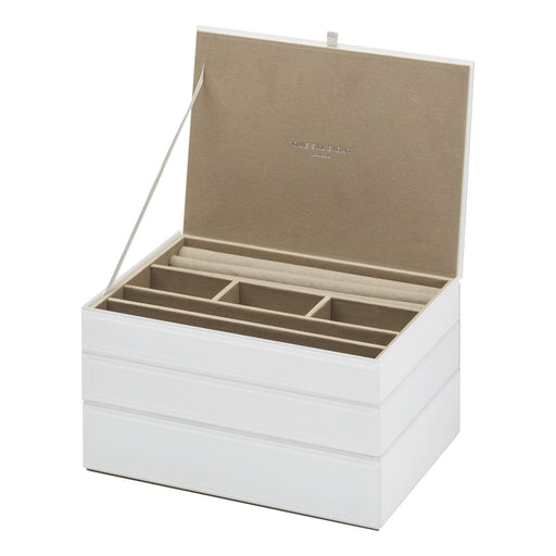 Bella Stackable Jewellery Box Set - White New, Jewellery Boxes, Ozark Home