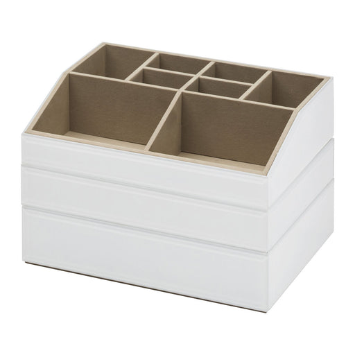 Bella Stackable Jewellery & Makeup Box Set - White New, Jewellery Boxes, Ozark Home