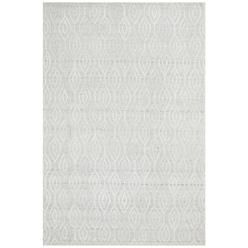 Vada White Winter Wish Handtufted Contemporary Rug, Rugs, Ozark Home