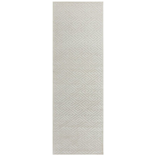 Luxor Natural & White Art Deco Luxury Runner Rug, Rugs, Ozark Home